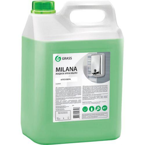 Жидкое мыло Grass Milana крем-мыло, алое вера, 5 л