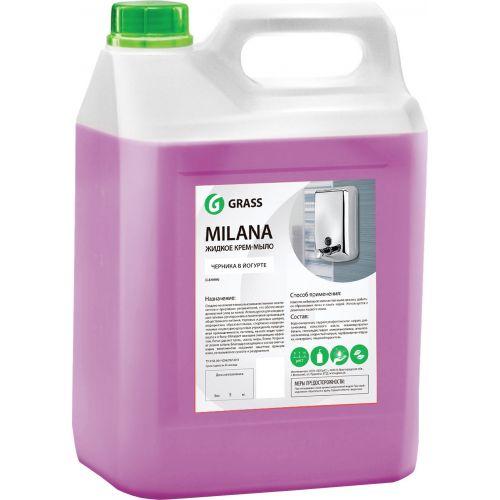 Жидкое мыло Grass Milana крем-мыло, черника в йогурте, 5 л
