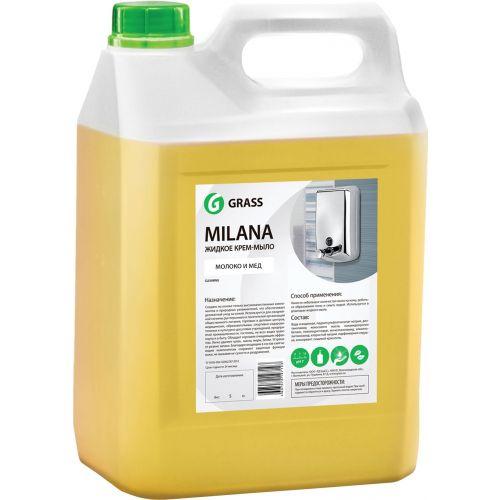 Жидкое мыло Grass Milana крем-мыло, молоко и мед, 5 л