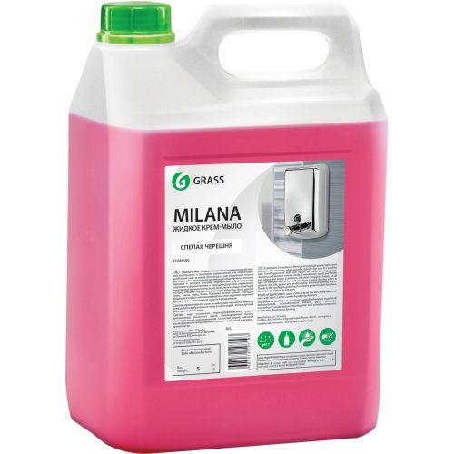 Жидкое мыло Grass Milana крем-мыло, спелая черешня, 5 л
